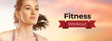 Fitness Workout Offer with Girl running