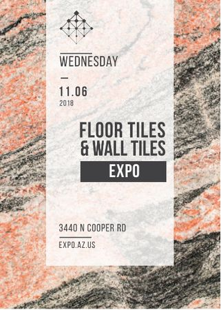 Plantilla de diseño de Tiles ad on Marble Light Texture Flayer