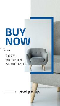 Furniture Store Ad with Grey Armchair