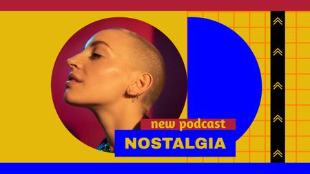 Plantilla de diseño de Podcast Topic Announcement with Young Woman Youtube Thumbnail