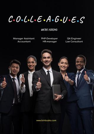 Funny Joke with Business Colleagues Poster Modelo de Design