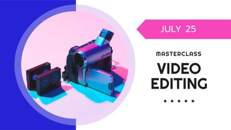 Plantilla de diseño de Video Editing Masterclass Announcement FB event cover