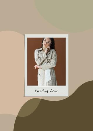 Woman wearing casual Dress Poster – шаблон для дизайна