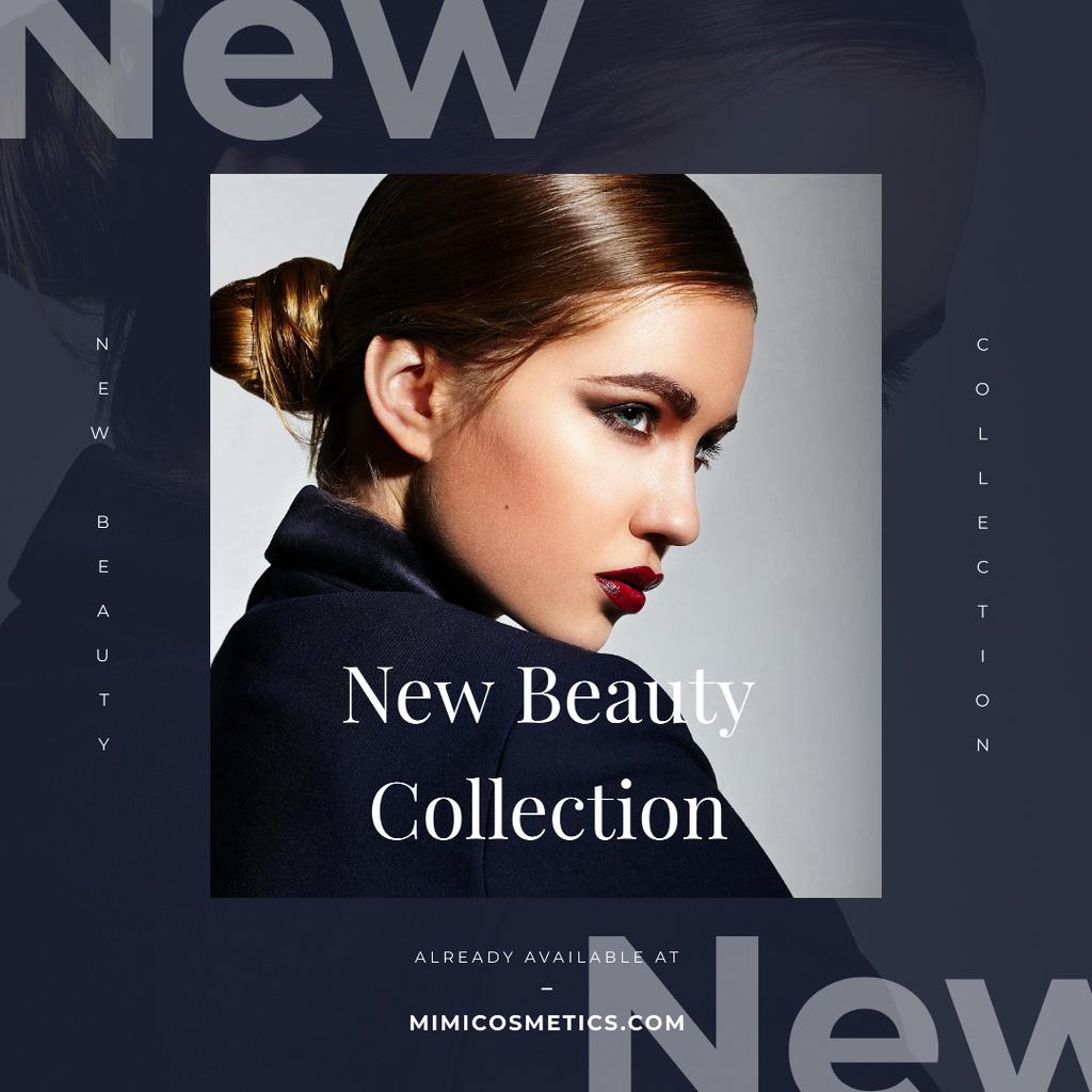 Modèle de visuel Cosmetics Ad Young Attractive Woman - Instagram AD