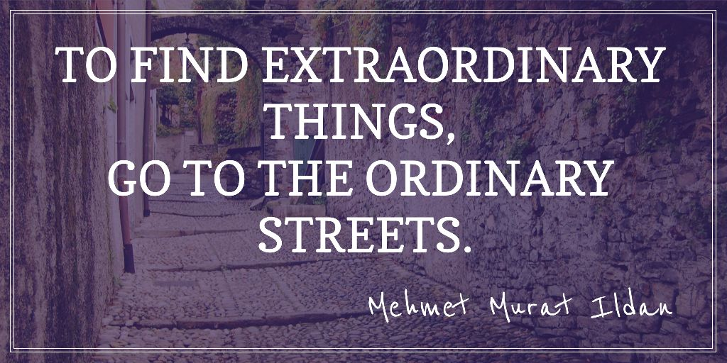 Motivational quote about streets — Maak een ontwerp