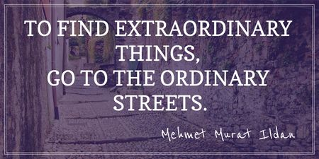 Motivational quote about streets Twitterデザインテンプレート