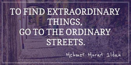 Plantilla de diseño de Motivational quote about streets Twitter