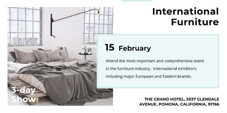 International furniture show Twitter – шаблон для дизайна