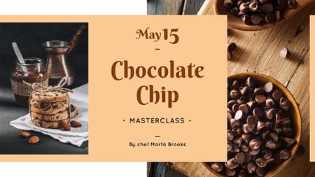 Ontwerpsjabloon van FB event cover van Chocolate chip Cookies offer
