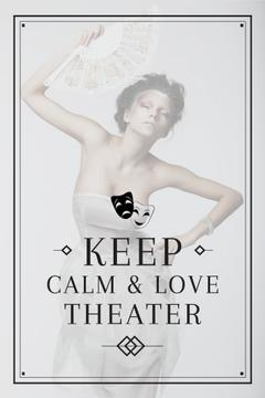 Theater Quote with Woman Performing in White