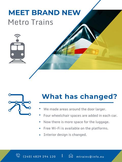 Template di design Public Transport Train in Subway Tunnel Poster US