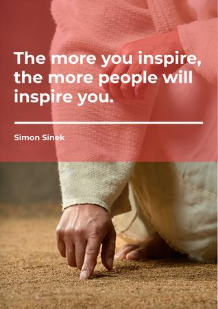 Citation about inspirational people Poster Modelo de Design