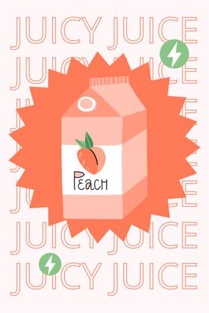 Plantilla de diseño de Cute Illustration of Peach Juice Pinterest
