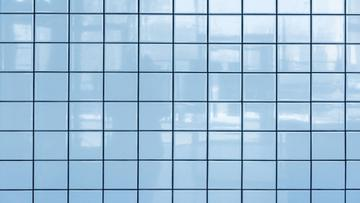 Light blue tile Wall