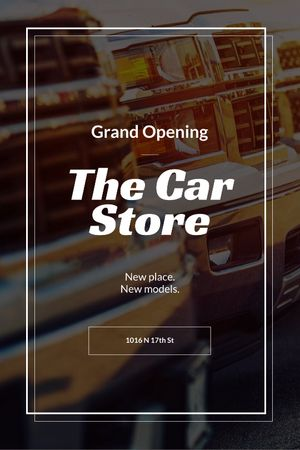Car store grand opening announcement Tumblr – шаблон для дизайну