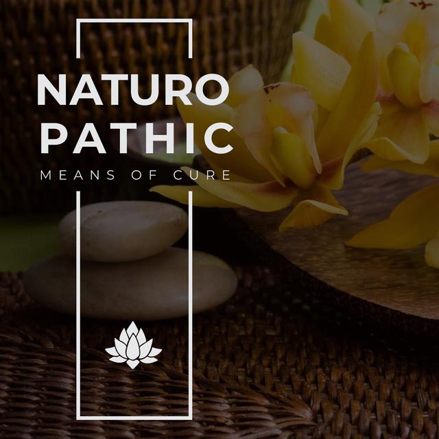 Plantilla de diseño de Spa Cosmetics with Zen Stones and flowers Instagram AD
