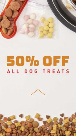 Dog Treats Discount Sale Offer Instagram Story Tasarım Şablonu