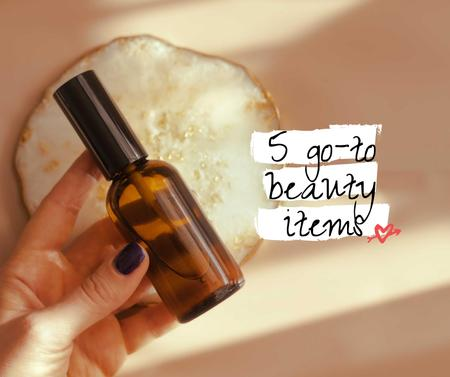 Modèle de visuel Beauty Product in glass bottle - Facebook