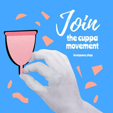 Sex Shop Promotion with Menstrual Cup Instagram Design Template