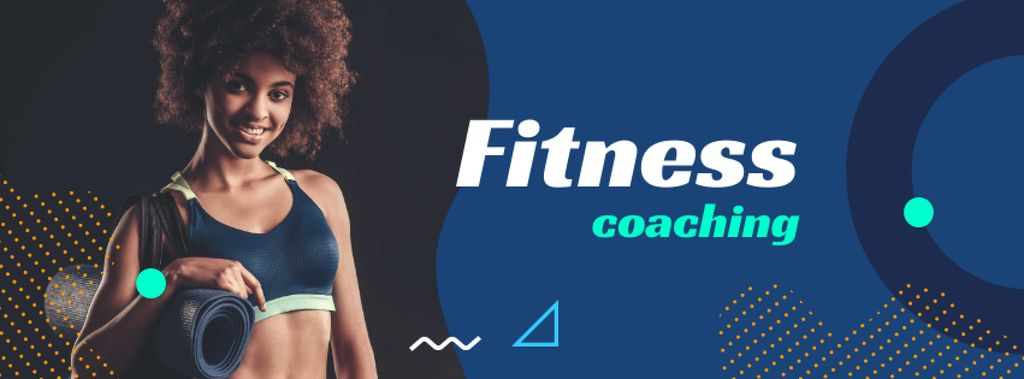 Fitness Coaching Offer with Athlete Woman — Crear un diseño
