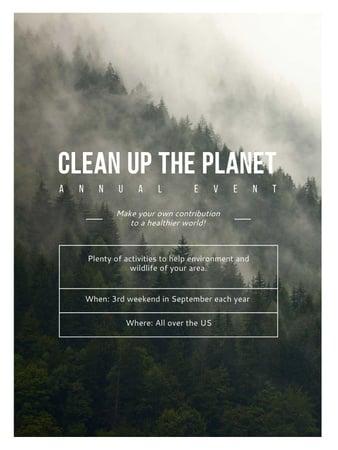 Designvorlage Ecological Event Foggy Forest View für Poster US