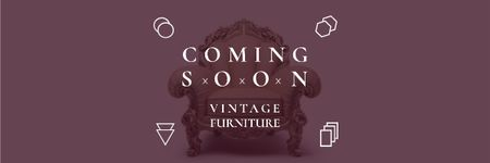 Vintage furniture shop Opening Announcement Email header – шаблон для дизайну