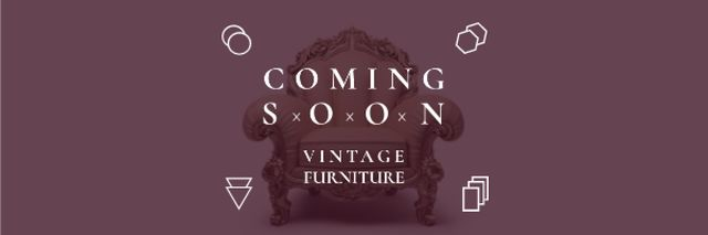 Vintage furniture shop Opening Announcement Email header – шаблон для дизайну