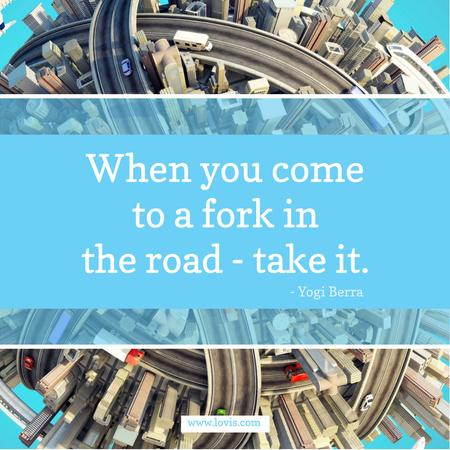 Ontwerpsjabloon van Instagram AD van Inspiration quote on City Roads