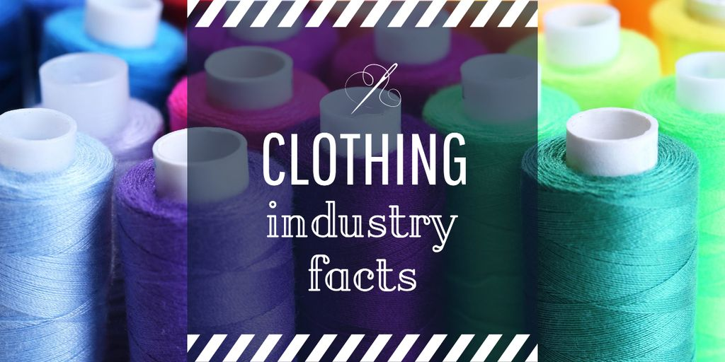 Clothing industry facts poster Image Design Template