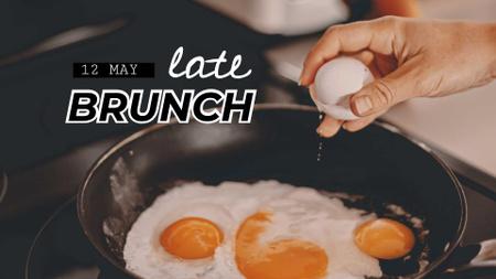 Ontwerpsjabloon van FB event cover van Fried Eggs for Late Brunch