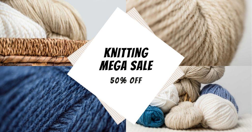 Knitting Course Discount Offer Facebook AD Modelo de Design