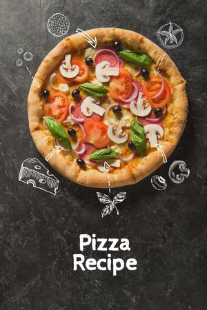 pizza recipe Pinterest – шаблон для дизайну
