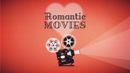 Plantilla de diseño de Film projector with Valentine's Day Movie Full HD video
