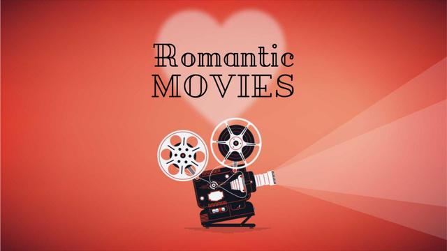 Plantilla de diseño de Film projector with Valentine's Day Movie Full HD video