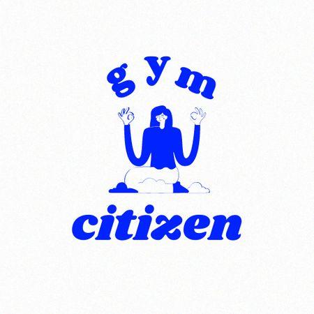 Gym Services Ad with Woman in Lotus Pose Logo – шаблон для дизайну