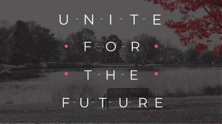 Ontwerpsjabloon van Youtube van Concept of Unite for the future