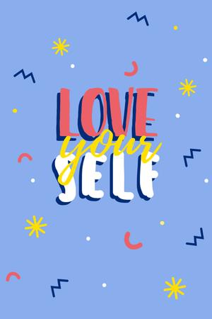 Plantilla de diseño de love yourself Pinterest