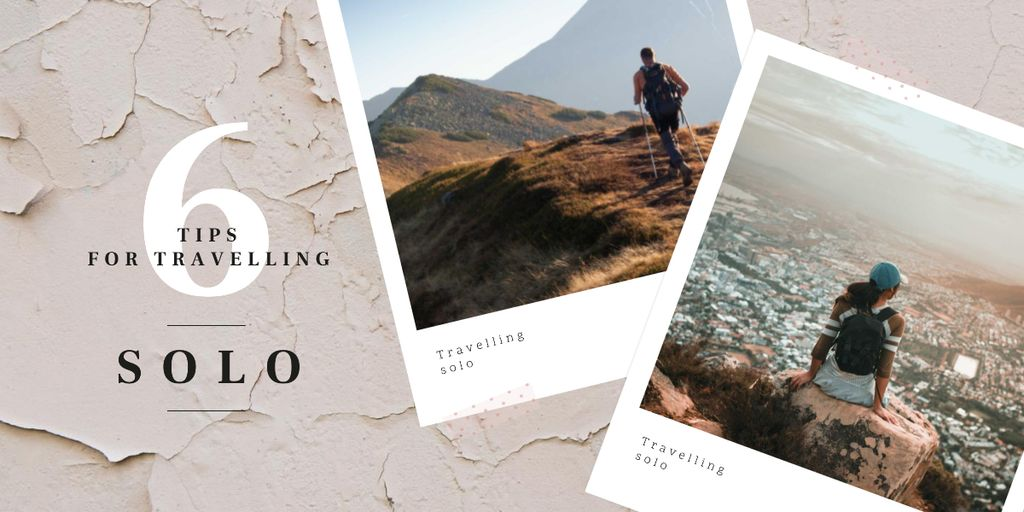 Template di design People hiking and backpacking Image