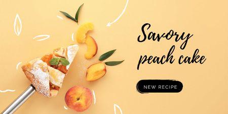Savory Peach Cake Twitter Design Template