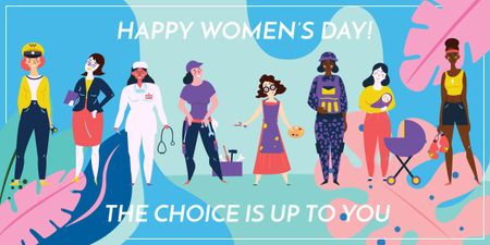 Women's day greeting card Image Modelo de Design