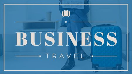 Template di design Businessman with Travelling Suitcase Title