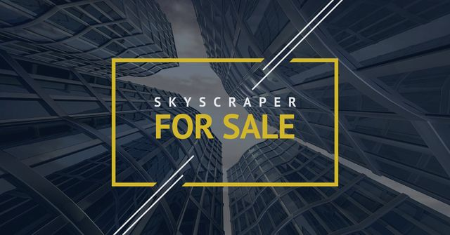 Skyscrapers for sale in Yellow frame Facebook AD Modelo de Design