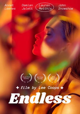 Plantilla de diseño de Movie Announcement with Young Girl Poster
