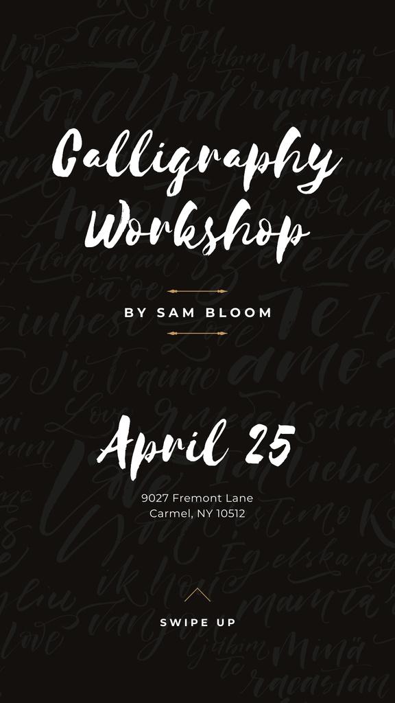 Caligraphy Workshop Annoucement — Crear un diseño