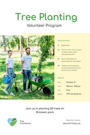 Plantilla de diseño de Volunteer Program Team Planting Trees Pinterest