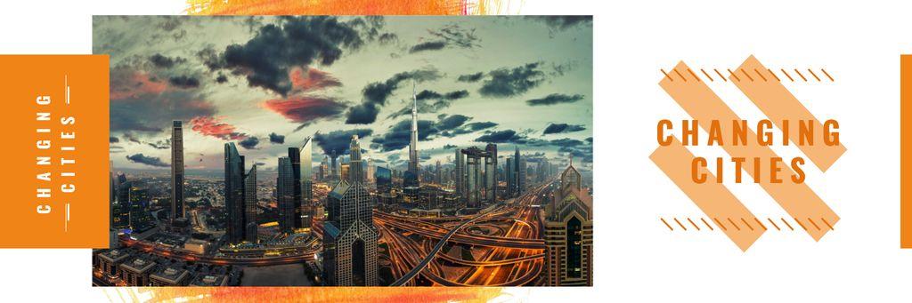 Night city traffic lights — Crear un diseño