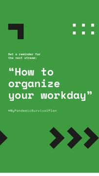 #MyPandemicSurvivalPlan Live Stream Topic about Workday organaizing