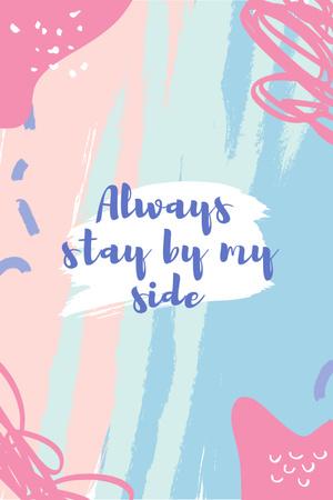Plantilla de diseño de Motivational Quote on pink Pinterest