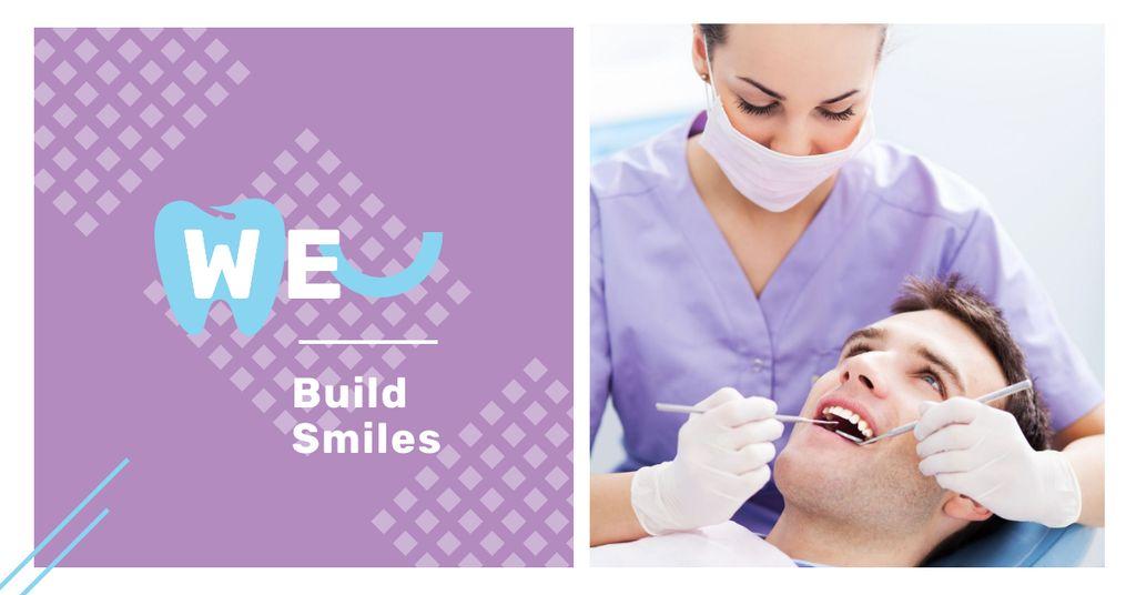 Man at dentist check-up - Bir Tasarım Oluşturun