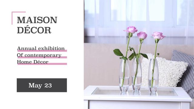 Home decor sale roses in Interior FB event cover Modelo de Design
